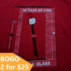 """Threadless Vintage 1st Edition """"IN CASE OF FIRE"""" T"""